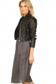 Dante 6 |  Leather cropped jacket | black  | Picture 5