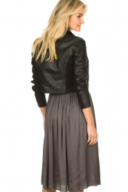 Dante 6 |  Leather cropped jacket | black  | Picture 6