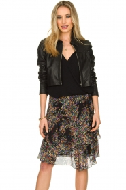 Dante 6 |  Leather cropped jacket Leavitt | black  | Picture 4