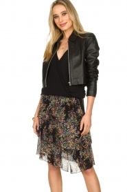 Dante 6 |  Leather cropped jacket Leavitt | black  | Picture 2