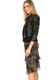Dante 6 |  Leather cropped jacket Leavitt | black  | Picture 5
