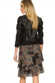 Dante 6 |  Leather cropped jacket Leavitt | black  | Picture 6