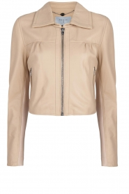 Dante 6 |  Leather cropped jacket Leavitt | natural  | Picture 1