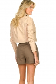 Dante 6 |  Leather cropped jacket Leavitt | natural  | Picture 5