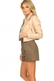 Dante 6 |  Leather cropped jacket Leavitt | natural  | Picture 4