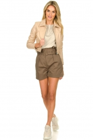 Dante 6 |  Leather cropped jacket Leavitt | natural  | Picture 3