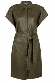 Dante 6 |  Leather dress with drawstring Voodoo | green   | Picture 1