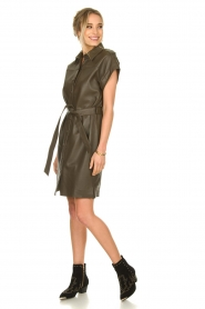 Dante 6 |  Leather dress with drawstring Voodoo | green   | Picture 3