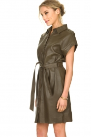 Dante 6 |  Leather dress with drawstring Voodoo | green   | Picture 5