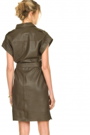 Dante 6 |  Leather dress with drawstring Voodoo | green   | Picture 6