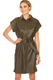 Dante 6 |  Leather dress with drawstring Voodoo | green   | Picture 2