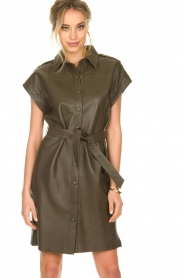 Dante 6 |  Leather dress with drawstring Voodoo | green   | Picture 4