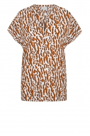 Dante 6 |  Printed top Prim | brown  | Picture 1