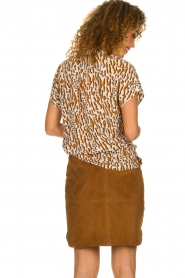 Dante 6 |  Printed top Prim | brown  | Picture 5