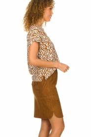 Dante 6 |  Printed top Prim | brown  | Picture 4
