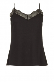 Dante 6 |  Sleeveless top with lace Aviana | black  | Picture 1