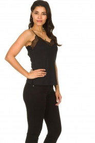 Dante 6 |  Sleeveless top with lace Aviana | black  | Picture 3