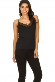 Dante 6 |  Sleeveless top with lace Aviana | black  | Picture 2