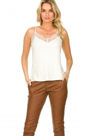 Dante 6 |  Sleeveless top with lace Aviana | white    | Picture 2