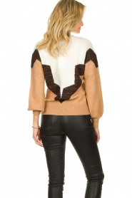 Dante 6 |  Colourblock sweater Savoir | brown  | Picture 6