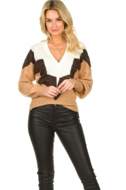 Dante 6 |  Colourblock sweater Savoir | brown  | Picture 2