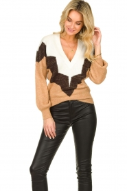 Dante 6 |  Colourblock sweater Savoir | brown  | Picture 4