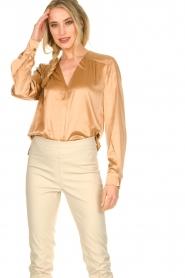 Dante 6 |  Silk blouse Kalea | bronze  | Picture 4