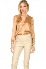 Dante 6 |  Silk blouse Kalea | bronze  | Picture 2