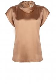 Dante 6 |  Draped collar top Mason | brown  | Picture 1