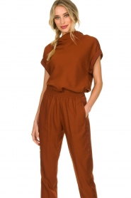 Dante 6 |  Draped collar top Mason | brown  | Picture 4