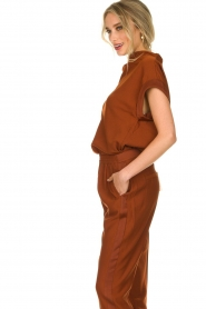 Dante 6 |  Draped collar top Mason | brown  | Picture 5