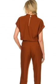 Dante 6 |  Draped collar top Mason | brown  | Picture 6
