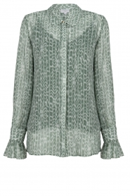 Dante 6 |  Blouse with print Orelie | green  | Picture 1