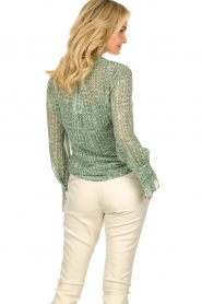 Dante 6 |  Blouse with print Orelie | green  | Picture 6