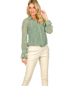 Dante 6 |  Blouse with print Orelie | green  | Picture 4