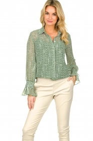 Dante 6 |  Blouse with print Orelie | green  | Picture 2