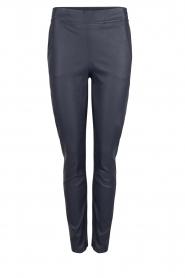Dante 6 |  Leather pants Lebon | blue  | Picture 1