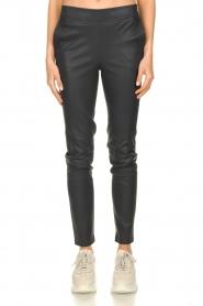 Dante 6 |  Leather pants Lebon | blue  | Picture 2
