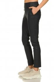 Dante 6 |  Leather pants Lebon | blue  | Picture 4