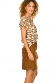 Dante 6 |  Suede skirt Comet | brown  | Picture 4