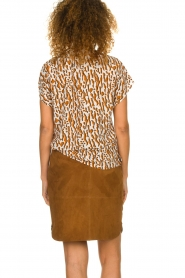Dante 6 |  Suede skirt Comet | brown  | Picture 5