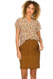 Dante 6 |  Suede skirt Comet | brown  | Picture 2