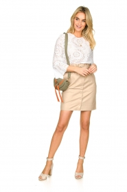 Dante 6 |  Leather paperbag skirt Courci  | natural  | Picture 3