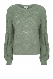 Dante 6 |  Knitted ajour sweater Helios | green  | Picture 1