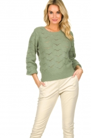 Dante 6 |  Knitted ajour sweater Helios | green  | Picture 2