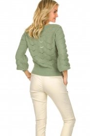 Dante 6 |  Knitted ajour sweater Helios | green  | Picture 6