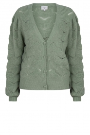 Dante 6 |  Knitted cardigan | green  | Picture 1