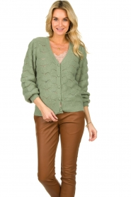Dante 6 |  Knitted cardigan | green  | Picture 4