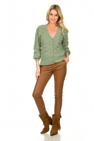 Dante 6 |  Knitted cardigan | green  | Picture 3