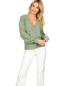 Dante 6 |  Knitted cardigan | green  | Picture 2